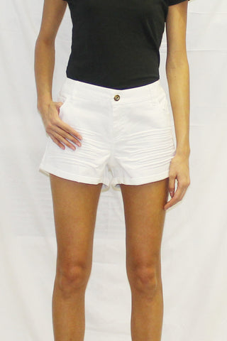 Roll Cuff Stretch Twill Shorts