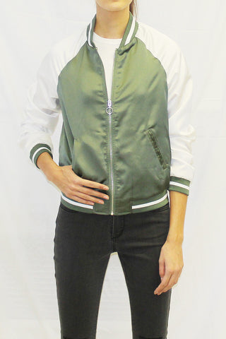 Lightweight Two-Tone Bomber Jacket