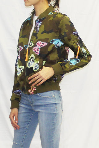 Camo Butterfly Bomber Jacket