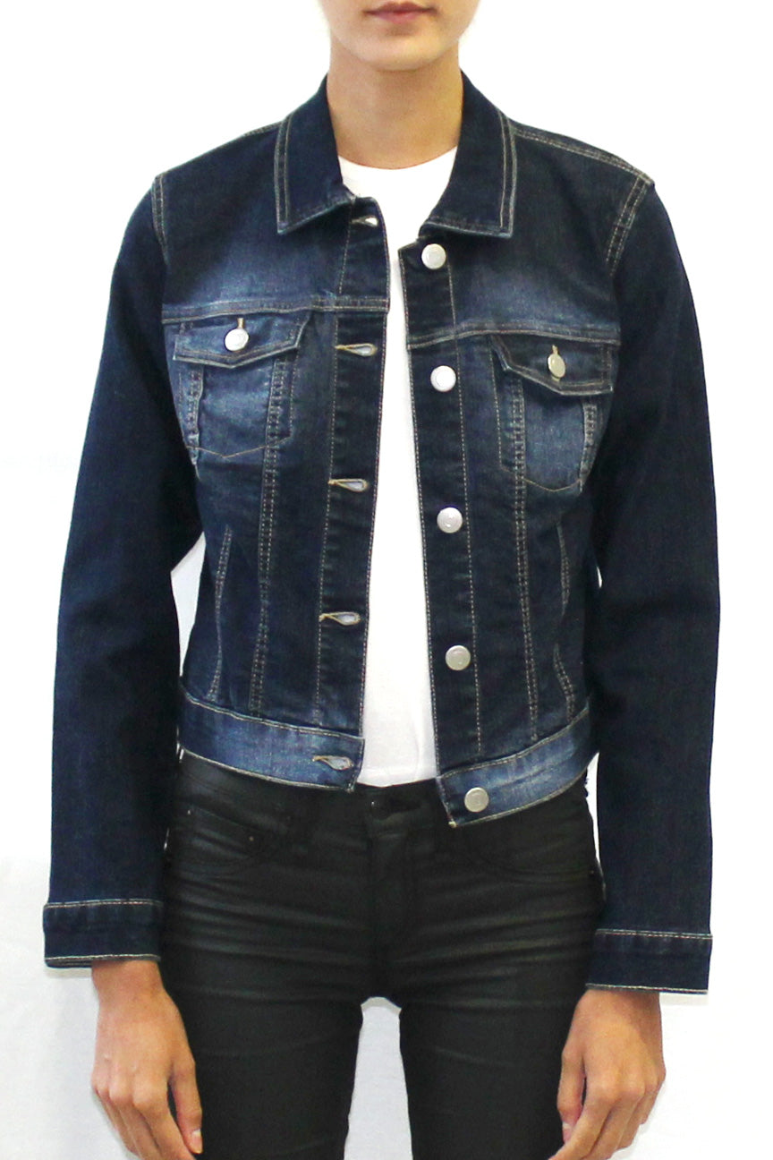 Fitted Classic Denim Trucker Jacket