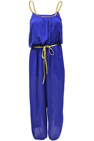 braided gold jumpsuit royal