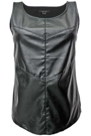 Faux Leather Tank - New Look - 1