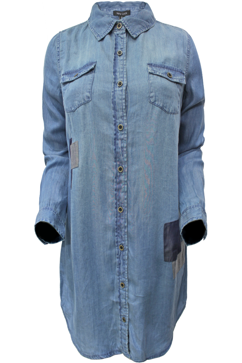 Patchwork Chambray Tunic