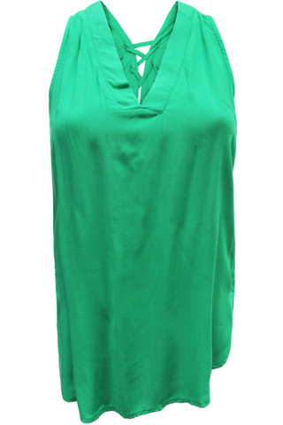 tie back top green