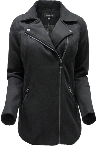 Asymmetric Zip Coat