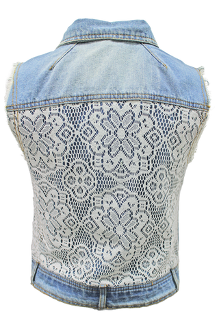 Crochet Back Vest - New Look - 1