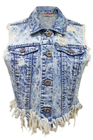 Frayed Boho Vest - New Look