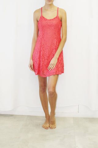 Floral Lace Cami Dress (Coral, Ivory, Blush)