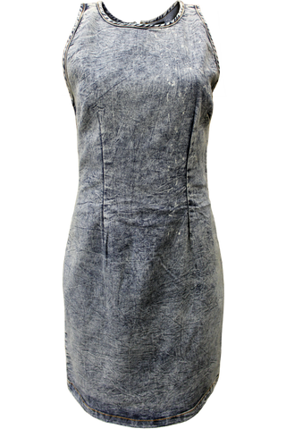 Zip Back Denim Dress
