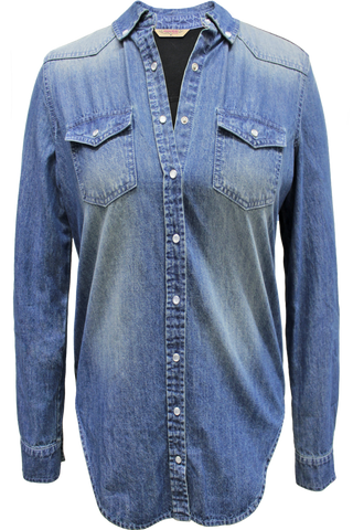Pearl Snap Combo Chambray