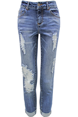 Distressed Boyfriend Skinny