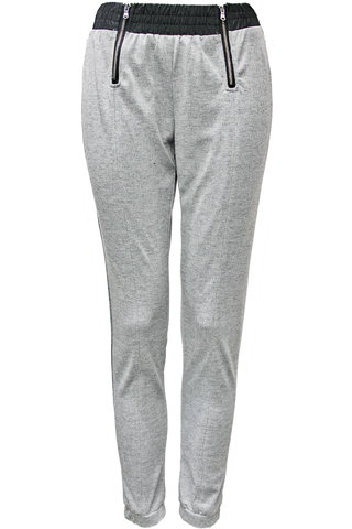 front zip athletic pant - heather