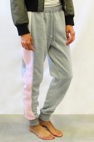 color block jogger pink