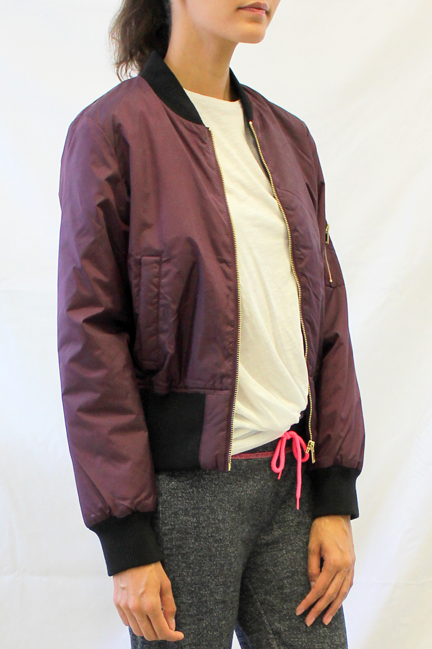 Cropped Flight Jacket
