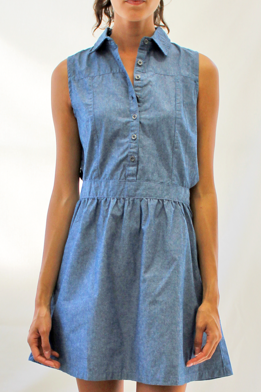 Cutout Denim Dress