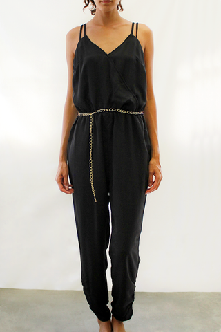 Chain Belt Jumpsuit