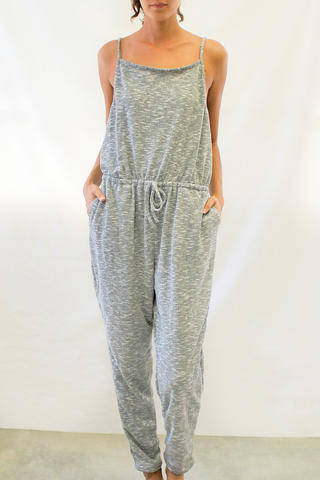 sleeveless knit jumpsuit