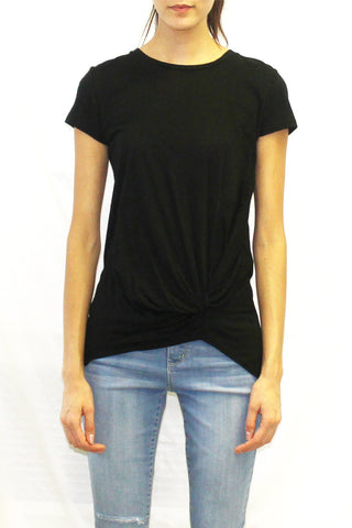 Front Drape Tee (White / Black / Blush / Navy)