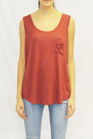 Boyfriend Tank with Pocket