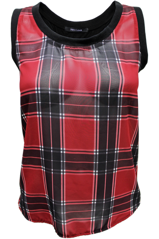 Plaid Outline Tank