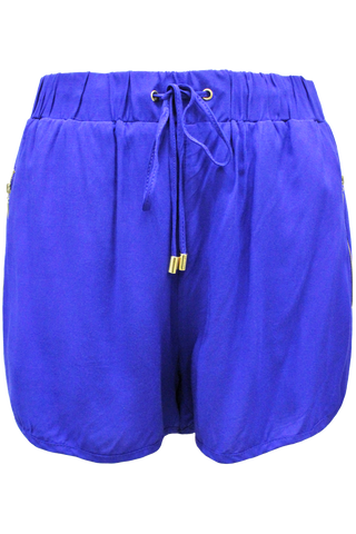 side zip athletic short royal