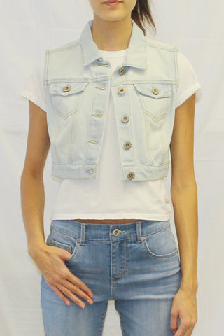 Cropped Denim Vest (Light Wash / Medium Wash / Dark Wash)