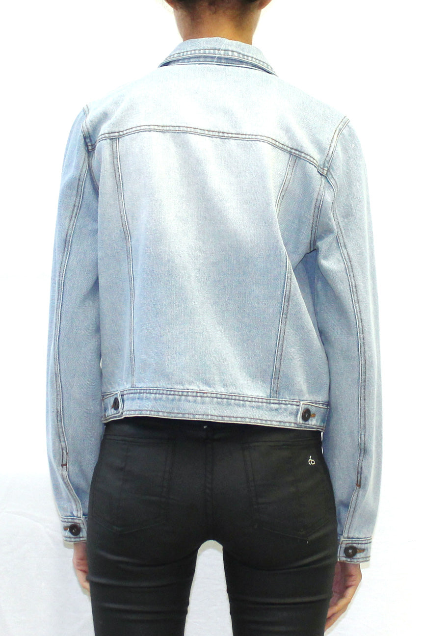 Destroyed Denim Jacket (Light Wash)