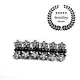 Small Swarovski Flower Jaw Clip-Set of 6_No.4001 - Hair Cosmopolitan