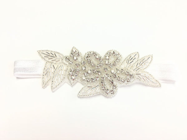Crystal Beaded Flower Headband for Flowergirl - Hair Cosmopolitan