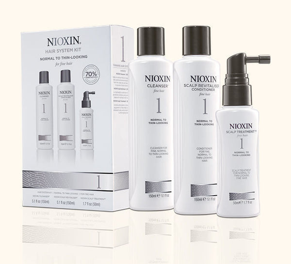 Nioxin System Kit 1-normal to thin-looking, fine, natural hair - Hair Cosmopolitan