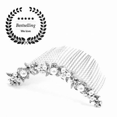 Crystal+Pearl Garden Bridal Large Comb_No.1045 - Hair Cosmopolitan