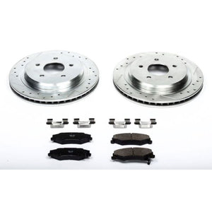 Power Stop 04-09 Cadillac XLR Rear Z23 Evolution Sport Brake Kit