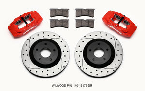 Wilwood SLC56 Front Caliper & Rotor Kit Red Corvette All C5 / Base C6 1997-2013