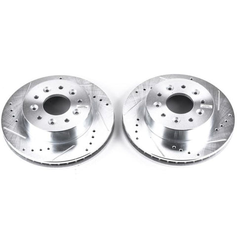 Power Stop 63-82 Chevrolet Corvette Front Evolution Drilled & Slotted Rotors - Pair