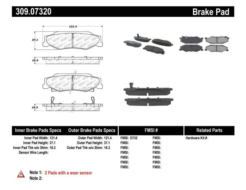StopTech Performance 04-08 Cadillac XLR/XLR-V / 97-10 Chevrolet Corvette Rear Brake Pads