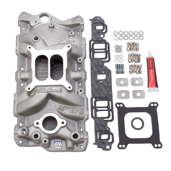 Edelbrock Manifold Installation Kit Performer Eps SBC 1957-1986 Natural Finish