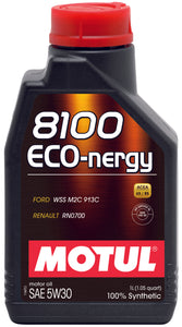 Motul 1L Synthetic Engine Oil 8100 5W30 ECO-NERGY - Ford 913C