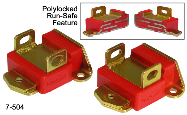 Prothane GM Motor Mounts - Type A Short - Red