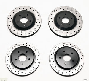 Wilwood Rotor Kit Front/Rear-Drilled 97-04 Corvette C5 All/ 05-13 C6 Base