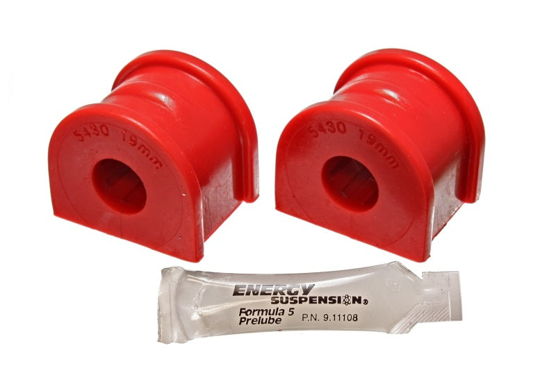 Energy Suspension 97-04 Chevy Corvette Red 19mm Rear Sway Bar Bushing Set - Reuse OE Brackets