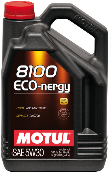 Motul 5L Synthetic Engine Oil 8100 5W30 ECO-NERGY - Ford 913C