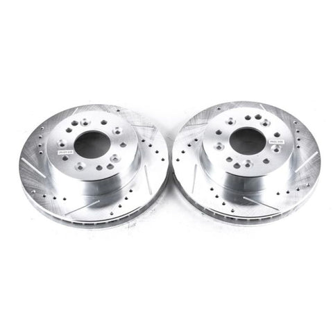 Power Stop 1969 Chevrolet Camaro Front or Rear Evolution Drilled & Slotted Rotors - Pair