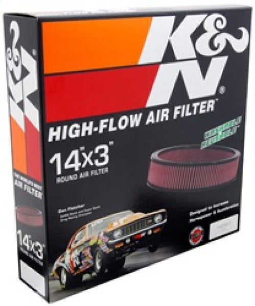 K&N Replacement Air Filter GM CARS & TRUCKS, V8, 1966-84