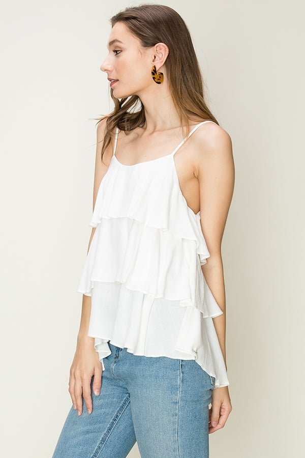 'Being Honest' Top - White