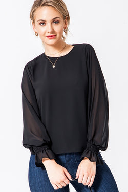 'Savor This Moment' Top - Black