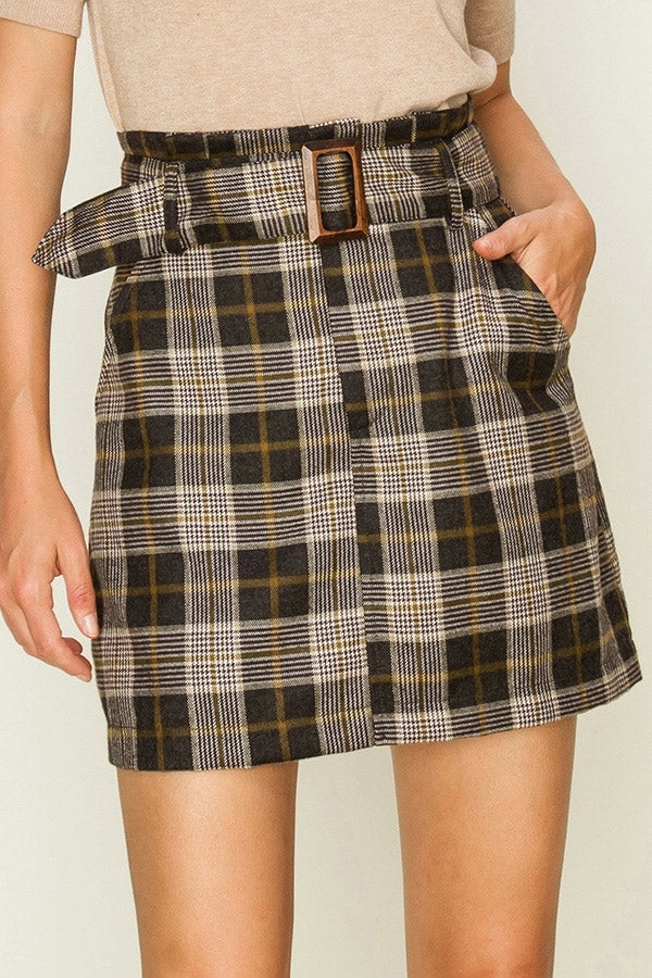 'Mad for Plaid' Skirt - FINAL SALE