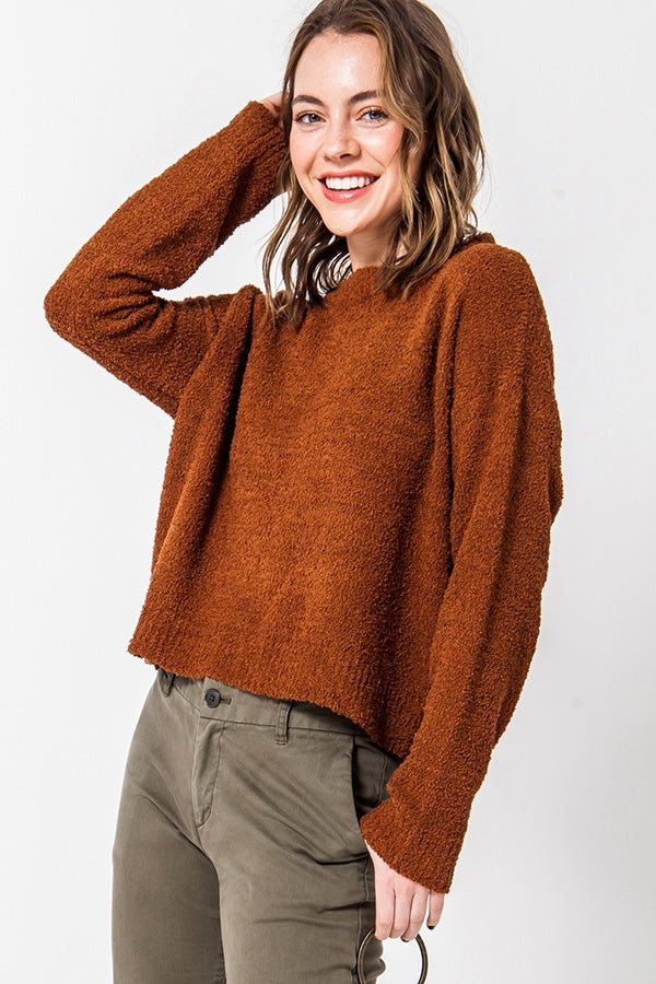 'Calling for You' Sweater - Brown