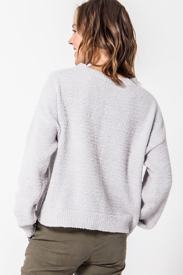 'Calling for You' Sweater - Cloud