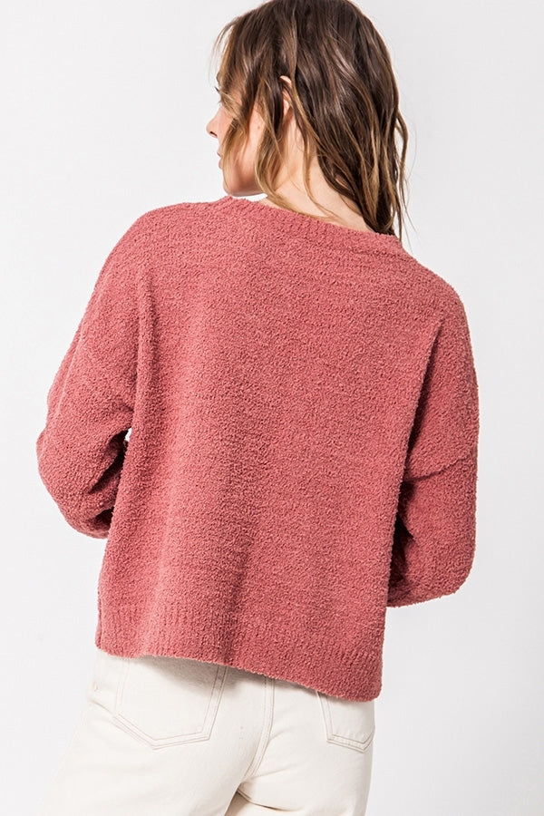 'Calling for You' Sweater - Indie Pink