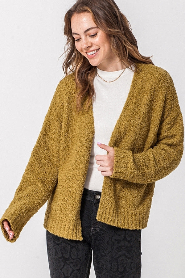 'Follow Me' Cardigan - Ecru Olive